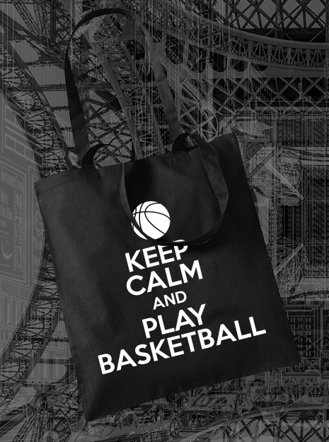 torba na zakupy KEEP CALM AND PLAY BASKETBALL kolor czarny