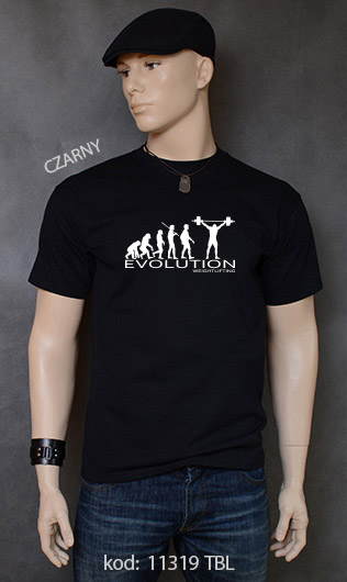 koszulka męska WEIGHT LIFTING EVOLUTION kolor czarny