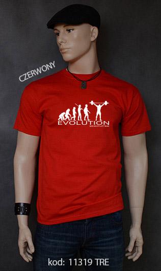 koszulka męska WEIGHT LIFTING EVOLUTION kolor czerwony