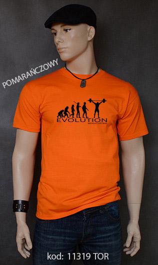 koszulka męska WEIGHT LIFTING EVOLUTION kolor pomarańczowy