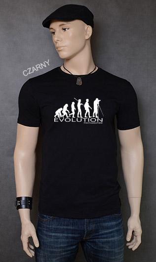 koszulka męska PHOTOGRAPHER EVOLUTION kolor czarny
