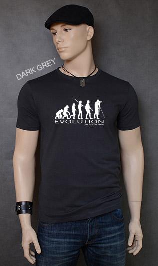 koszulka męska PHOTOGRAPHER EVOLUTION kolor dark grey