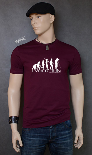 koszulka męska PHOTOGRAPHER EVOLUTION kolor wine