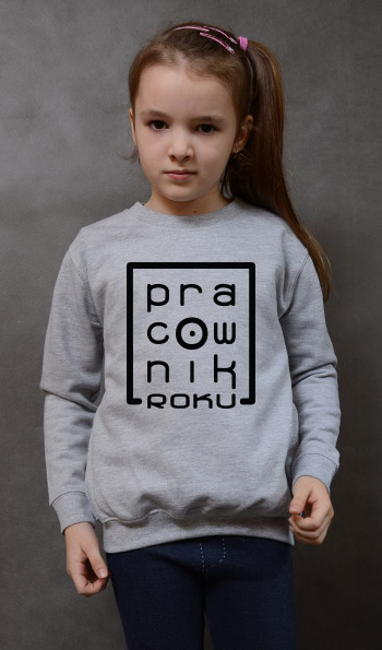 bluza dziecięca PRACOWNIK ROKU kolor szary