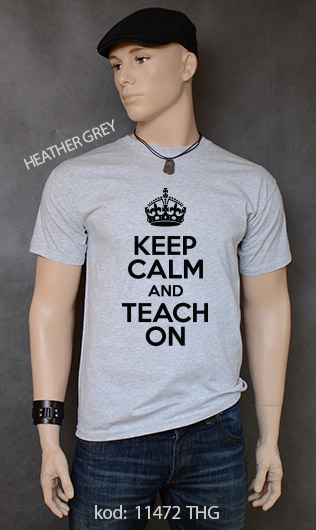 koszulka męska KEEP CALM AND TEACH ON kolor heather grey