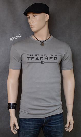 koszulka męska TRUST ME I'M A TEACHER kolor stone