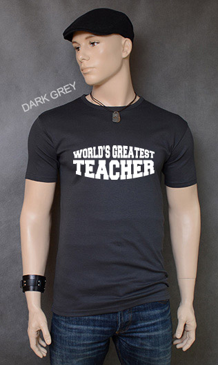 koszulka męska WORLD'S GREATEST TEACHER kolor dark grey