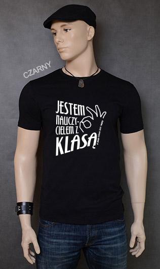 koszulka męska JESTEM NAUCZYCIELEM Z KLASĄ kolor czarny