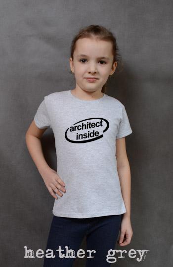 koszulka dziewczęca ARCHITECT INSIDE kolor heather grey