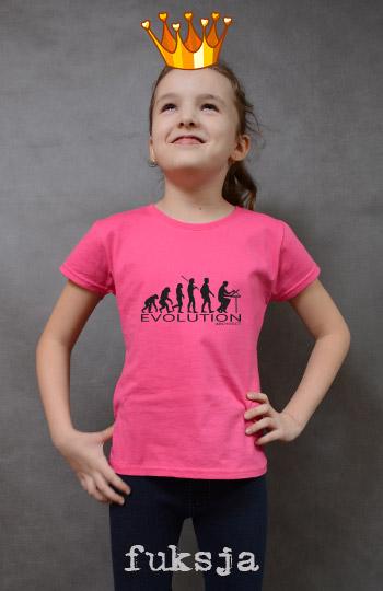 koszulka dziewczęca ARCHITECT EVOLUTION kolor fuksja