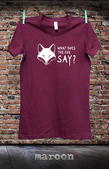 koszulka damska WHAT DOES THE FOX SAY kolor maroon