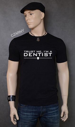 koszulka męska TRUST ME I'M A DENTIST kolor czarny