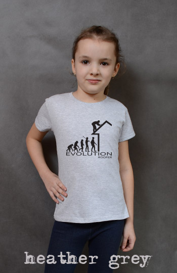 koszulka dziewczęca ROOFER EVOLUTION kolor heather grey