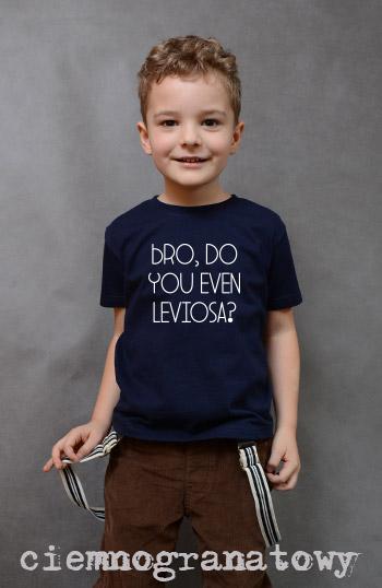 koszulka chłopięca BRO, DO YOU EVEN LEVIOSA? kolor ciemnogranatowy