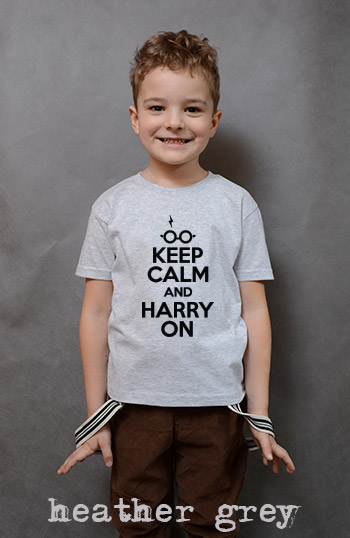 koszulka chłopięca KEEP CALM AND HARRY ON kolor heather grey