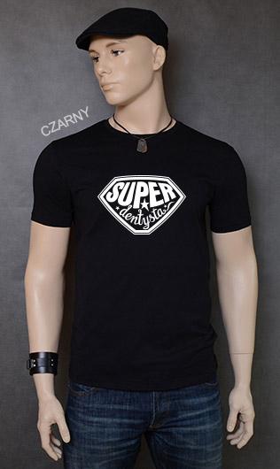 koszulka męska SUPER DENTYSTA kolor czarny