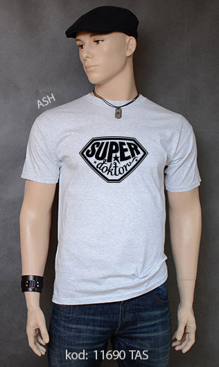 koszulka męska SUPER DOKTOR kolor ash