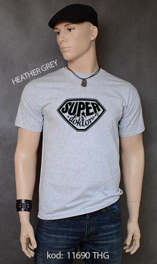 koszulka męska SUPER DOKTOR kolor heather grey