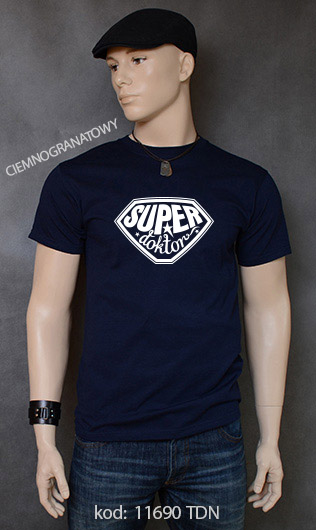 koszulka męska SUPER DOKTOR kolor ciemnogranatowy