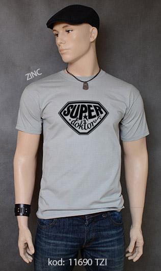 koszulka męska SUPER DOKTOR kolor zinc