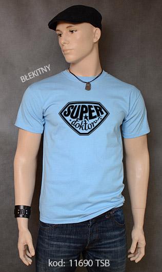 koszulka męska SUPER DOKTOR kolor błękitny