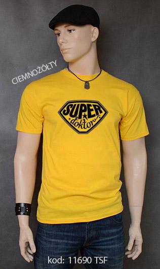 koszulka męska SUPER DOKTOR kolor ciemnożółty