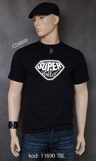 koszulka męska SUPER DOKTOR kolor czarny