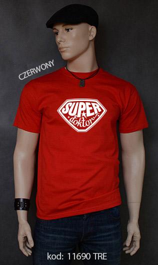 koszulka męska SUPER DOKTOR kolor czerwony
