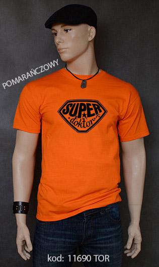 koszulka męska SUPER DOKTOR kolor pomarańczowy