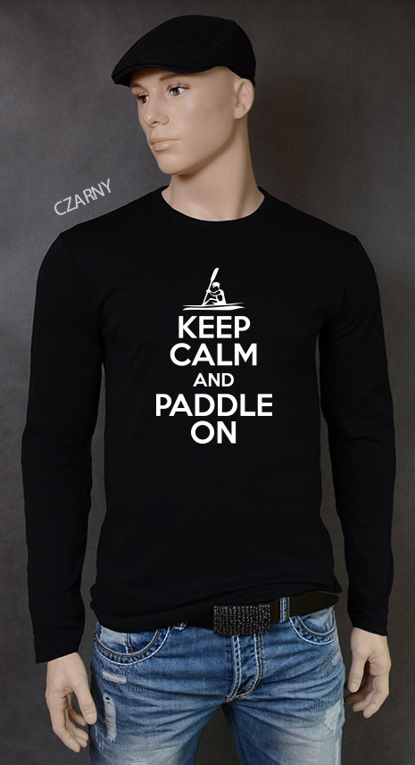 longsleeve męski KEEP CALM AND PADDLE ON kolor czarny