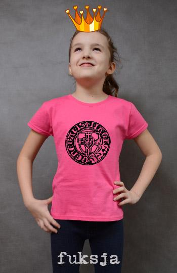 koszulka dziewczęca KWARTNIK KNIPRODE kolor fuksja