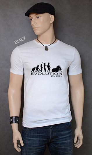 koszulka męska ŻUŻEL EVOLUTION kolor biały