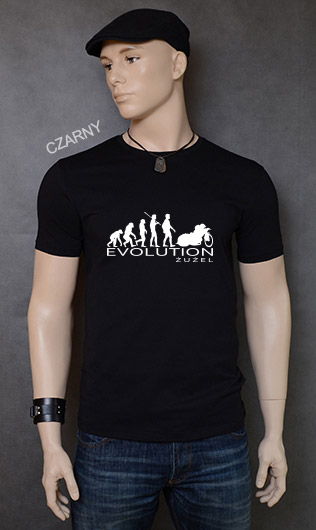 koszulka męska ŻUŻEL EVOLUTION kolor czarny