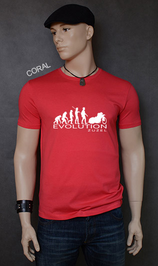 koszulka męska ŻUŻEL EVOLUTION kolor coral