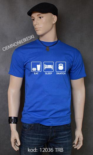 koszulka męska EAT SLEEP SNATCH kolor ciemnoniebieski