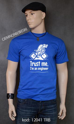 koszulka męska TRUST ME I'M AN ENGINEER kolor ciemnoniebieski