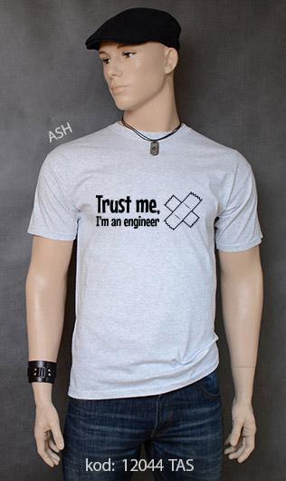koszulka męska TRUST ME I'M AN ENGINEER kolor ash