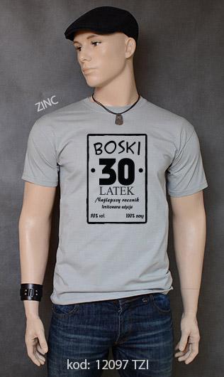 koszulka męska BOSKI 30 LATEK kolor zinc