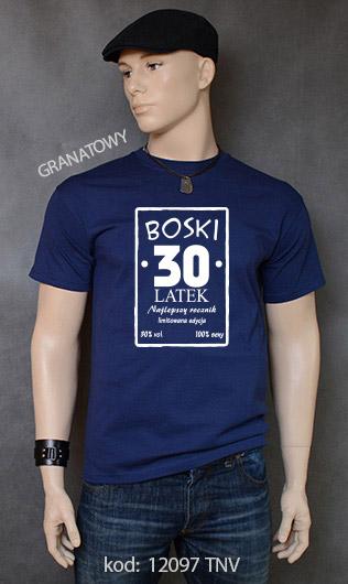 koszulka męska BOSKI 30 LATEK kolor granatowy