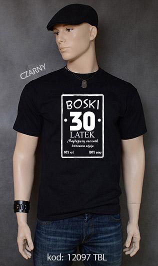 koszulka męska BOSKI 30 LATEK kolor czarny