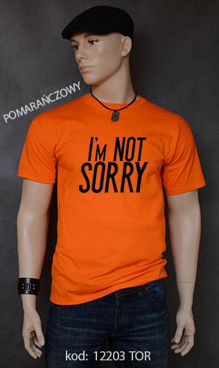 koszulka męska I'M NOT SORRY kolor pomarańczowy