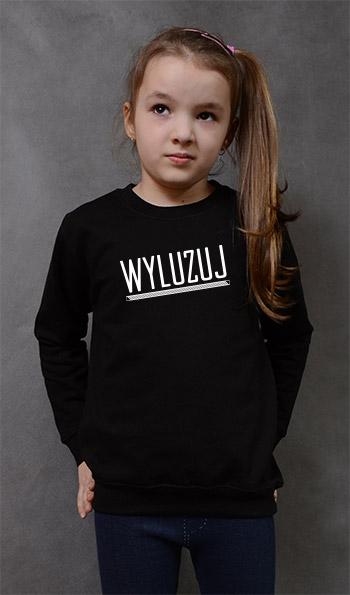 bluza dziecięca WYLUZUJ kolor czarny
