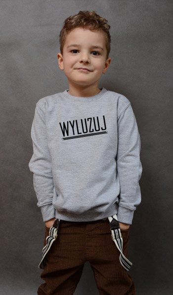 bluza dziecięca WYLUZUJ kolor szary
