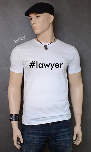 koszulka męska LAWYER kolor biały