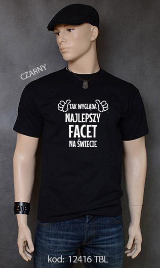 koszulka męska TAK WYGLĄDA NAJLEPSZY FACET NA ŚWIECIE kolor czarny