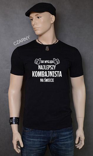 koszulka męska TAK WYGLĄDA NAJLEPSZY KOMBAJNISTA NA ŚWIECIE kolor czarny