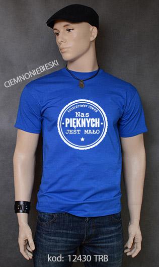koszulka męska NAS PIĘKNYCH JEST MAŁO kolor ciemnoniebieski