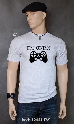 koszulka męska TAKE CONTROL kolor ash