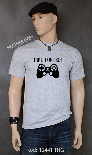 koszulka męska TAKE CONTROL kolor heather grey