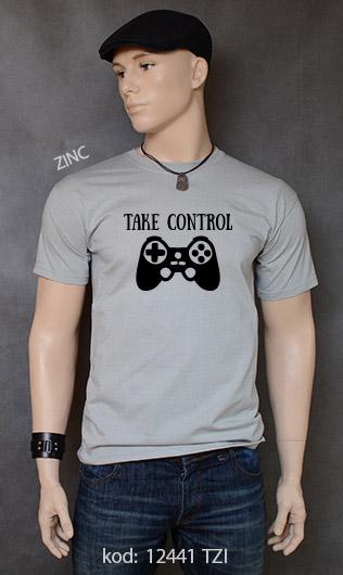 koszulka męska TAKE CONTROL kolor zinc
